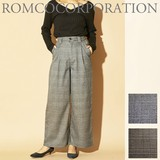 Sold Out Checkered Tuck wide pants