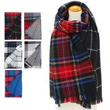 A/W Stole Reversible Checkered Stole