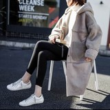 2017 A/W Ladies Silhouette Food Fake Mouton Coat