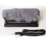 Fur Flap Clutch Bag