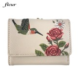 Hummingbird Flower Embroidery Coin Purse Three Wallet 2017 A/W