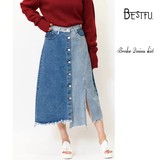 Color Scheme Denim Skirt 2017 A/W