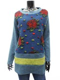 A/W Flower Embroidery Switch Tunic
