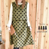 2017 A/W Popular Flocky Dot Switching One-piece Dress
