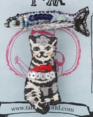 Embroidery Brooch Cat