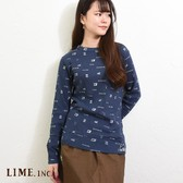 2018 A/W Long Sleeve T-shirt Antique Repeating Pattern