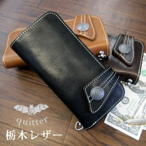 Tochigi Leather Oil Vacchetta Leather Long Wallet