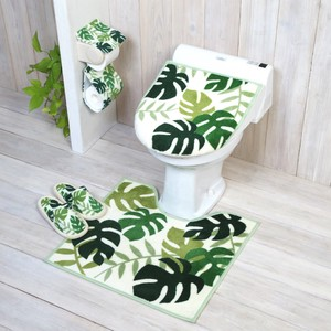 Monstera Green Toilet Kitchen Mat