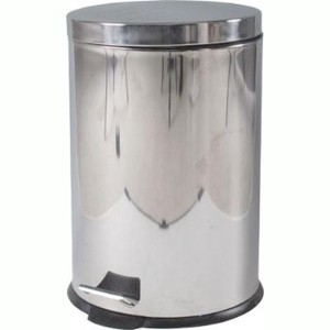 Dust Box Garbage can Stainless Round Pedal Pale