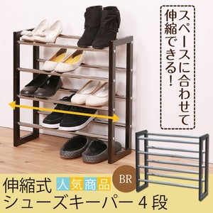 Expansion Shoes Keeper 4 Steps Shoes Rack Shoe Storage Iron Light-Weight Entrance
