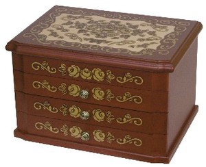 Wooden Jewel Box Rose Series