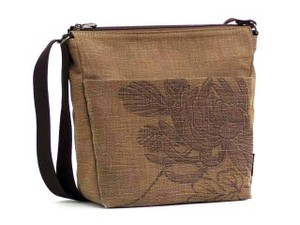 Persimmon -Dyed Biscuits Shoulder Japanese Pattern Bag