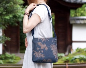 Persimmon Tannin Dyeing Pouch Japanese Pattern Bag