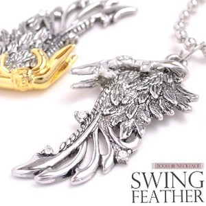 Feather Necklace Gothic Sophistication Modern Strong Impression