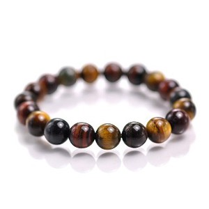 Natural stone Multi Tiger's Eye Bracelet Tall Power Stone