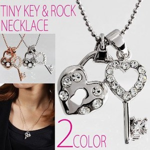 Double Charm Specification Charm Pendant Attached Necklace 2 Colors