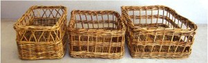 Alarog Square Basket Natural Miscellaneous goods Antique Miscellaneous goods