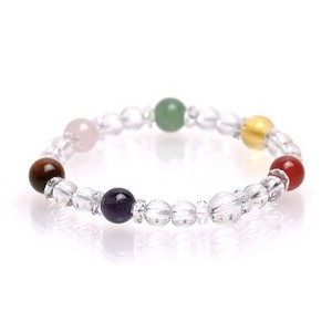 Natural stone Rainbow Color 7 Colors Stone Bracelet Birthstone 7 Colors Shine