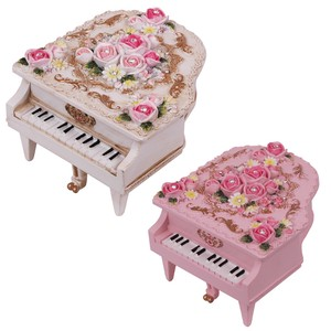Piano Music Box Pink White Thank You
