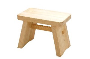 Japanese Cypress Bath Chair Bathroom Accessory