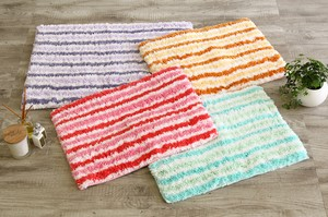 Bath Mat Pastel Pink Funwari Fluffy With Non-Slip