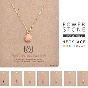 Power Stone Jewel Necklace Nickel Free 8 Types Natural stone Use