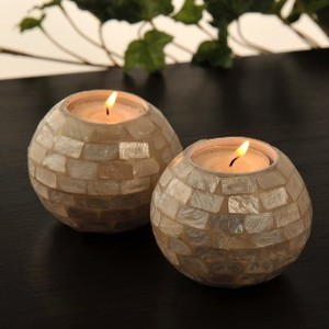 Shell Candle Holder 2 Pcs Set Asia Miscellaneous goods