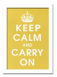 インテリアアート/Vintage Reproduction/Keep Calm (mustard)