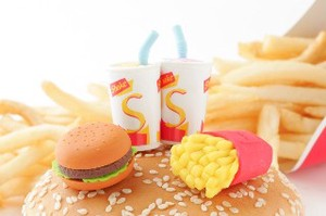 Burger Set Eraser