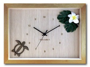 Hawaiian Clock Frangipani Yellow Natural
