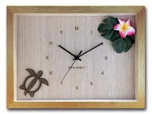 Hawaiian Clock Frangipani Pink Natural