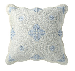 Cushion Cover Blue Quilt Coolness