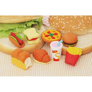 IWAKO Burger Set Eraser 60 Pcs Bottle