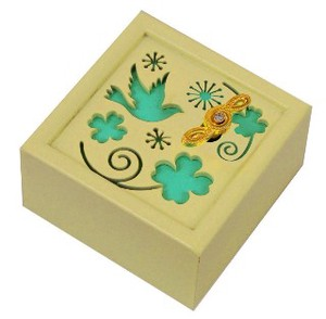 Wooden Music Box Clover Wooden Melody