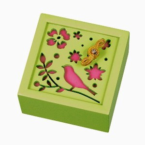 Wooden Music Box Flower Flower Wooden Melody