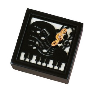 Wooden Music Box Musical Note Piano Wooden Melody