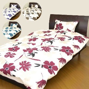 Modern Floral Pattern Bedspread Cover Mattress Cover Pillow Case
