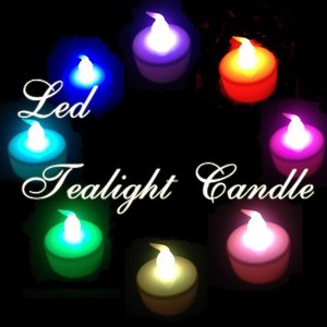Tea Light Candle Band Set 7 Colors