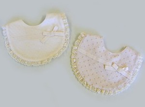 Organic Cut And Sewn Lace Ribbon Bib