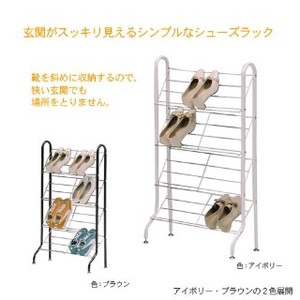 Shoes Rack 6 Pcs Assembly Furniture Chocolate
