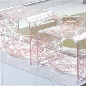 Clear Pattern Clear Rose Pink Bowl