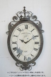 Crown Oval Clock