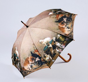 Famous Painting Series One push Umbrellas Cat Family