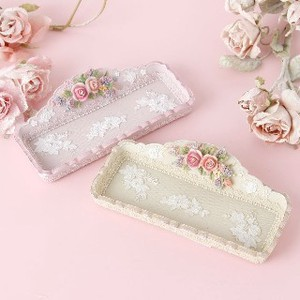Rose Fancy Goods Tray Pink Beige