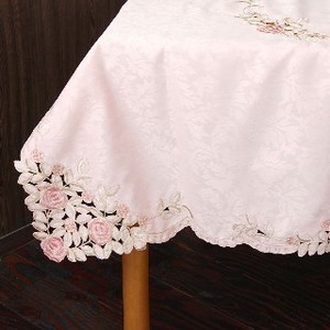 Rose Tablecloth Pink Rose