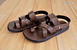 Leather sandal BA05 lady's