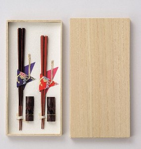 Couple Chopstick Set Hexagon Chopstick Natural Wood Gift