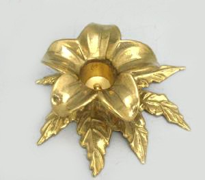 Italy Brass Flower Candle