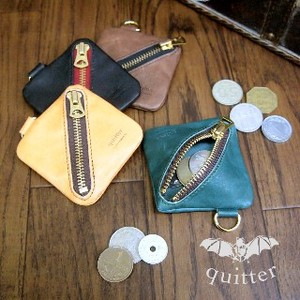 Leather Square Coin Case Maid Japan