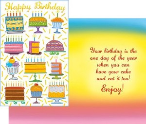 Greeting Card Birthday Cake Sweets